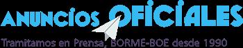 Anuncios Oficiales en BORME, BOE y prensa Logo