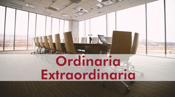 diferencia entre junta general ordinaria y extraordinaria